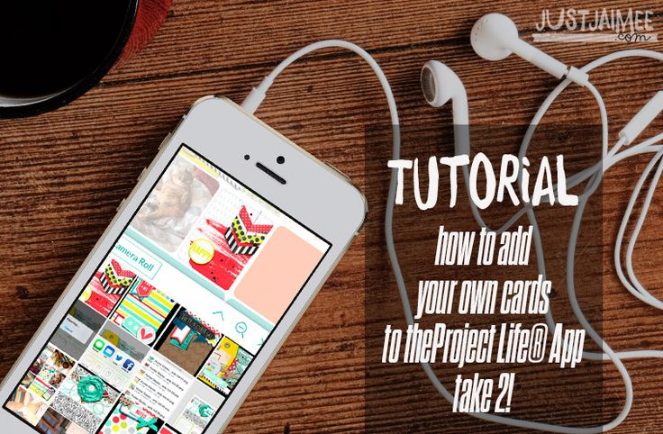 Just Jaimee: Tutorial on how to import your own pocket cards into the Project Life® App using dropbox.