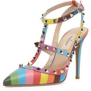 Valentino Rockstud Rainbow Slingback Pump SS 2015 #Shoes
