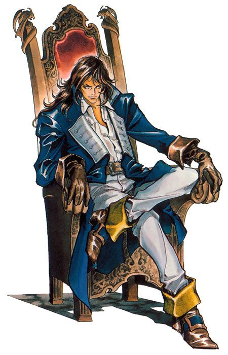 Richter Belmont on Chair - Castlevania: Symphony of the Night