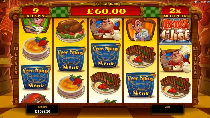 Big Chef Online Slot launches at Euro Palace Casino in May 2015 - visit www.europalace-casino.com for more details