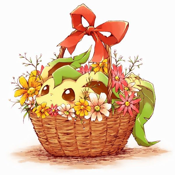 Leafeon in basket