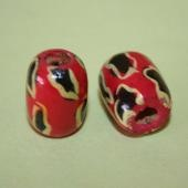 Unique Painted Wooden Beads