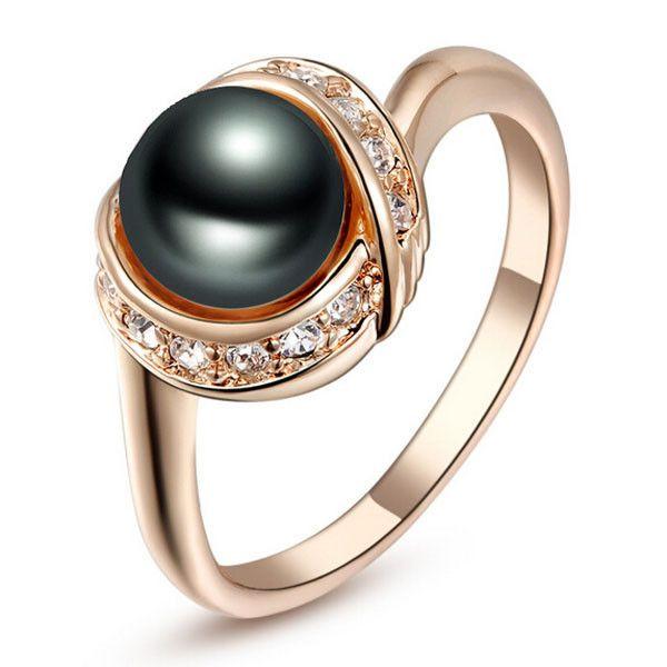 Grande qualité perle anneau avec bague en alliage de zinc de Mix prix de gros…
