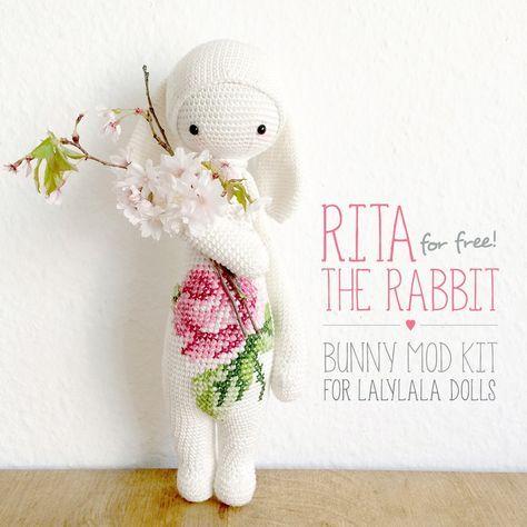 "free bunny crochet pattern kit ""RITA the rabbit"""