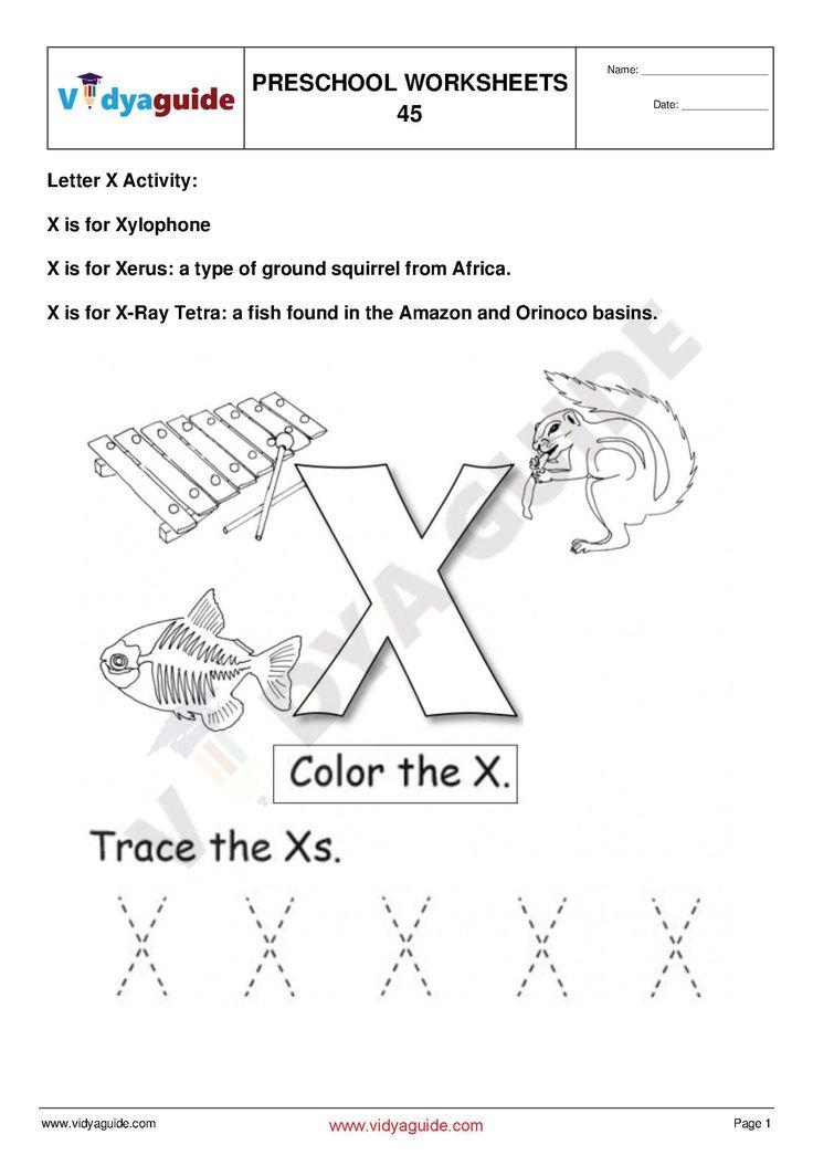 Preschool Worksheet - Set 10. Download 5 PDF printable ...