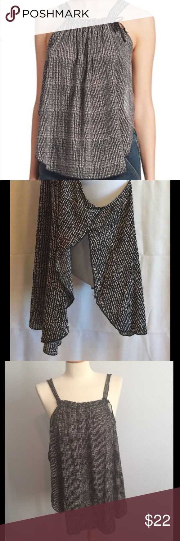 NWT 🌿 Free People Flowy Open Side Gauze Tank Gorgeous Bohemian tank by Free People! Sides fall away for an easy breezy look! Super cute, never worn, new with tags! Free People Tops Tank Tops
