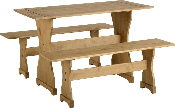 sales@spt-furniture.com Corona Dinette Set Distressed Waxed Pine Assembled Sizes(MM) 1200 x 600 x 750 1200 x 300 x 450 Extra Information TOP THICKNESS 18MM BENCH SEAT THICKNESS 18MM