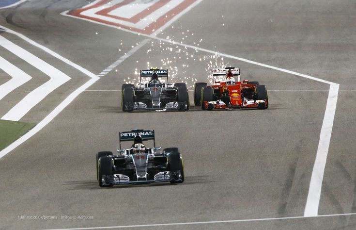 Lewis Hamilton, Nico Rosberg, Sebastian Vettel, Bahrain International Circuit, 2015