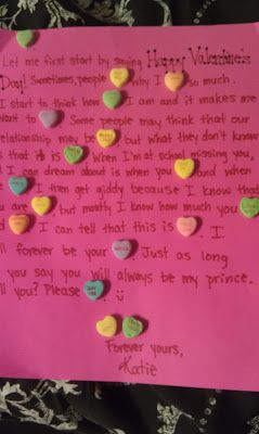 Love Letter Using Candy Hearts DIY