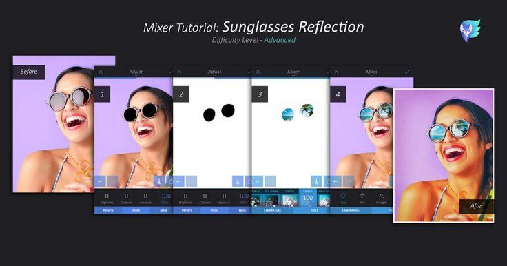 Mixer Tutorial: Sunglasses Reflection   Enlight   Enlight Leak