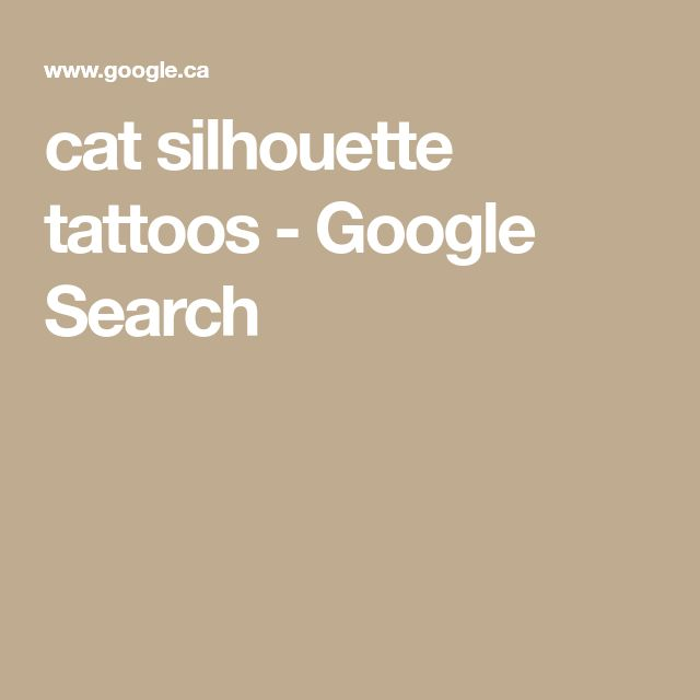 cat silhouette tattoos - Google Search
