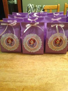 Sofia the first candy bags