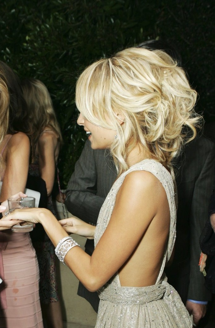 nicole richie engagement party hairstyle... what a cute up-do