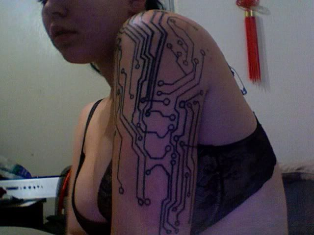 Circuit Board Tattoo Designs: 29 Best Images About Electronic Circuit Tattoo On