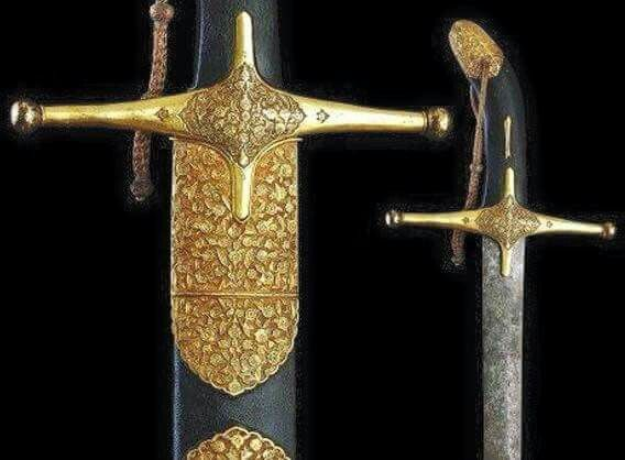 Close up of  the majestic  look of the swords  that was used by the Prophet