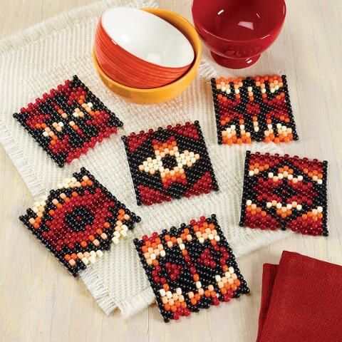 Herrschners® Indian Sunset Coasters Beaded Banner Kit