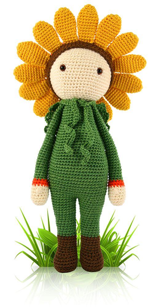 Sunflowers Amigurumi Crochet Pattern Plant : Sunflower Sam - crochet and amigurumi doll pattern by ...
