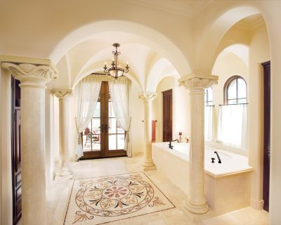 Cream Mediterranean Bathroom Part 65