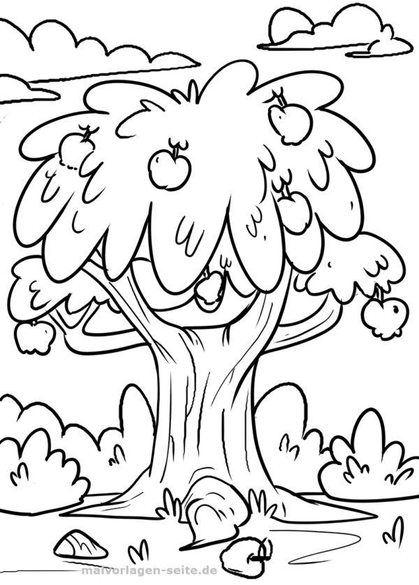 Apfelbaum Malvorlagen Apfelbaum kostenlose Malvorlagen zum Download Vorla …   – Malvorlagen