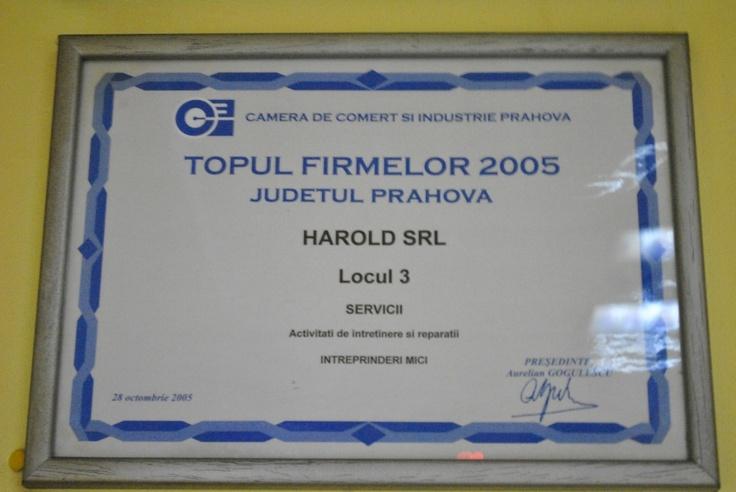 Locul 3 in Topul Firmelor HAROLD SRL #Ploiesti