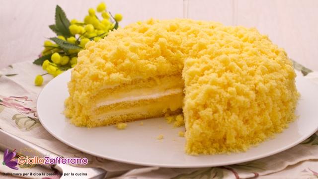 Torta mimosa classica... Mi viene gia' l'acquolina...