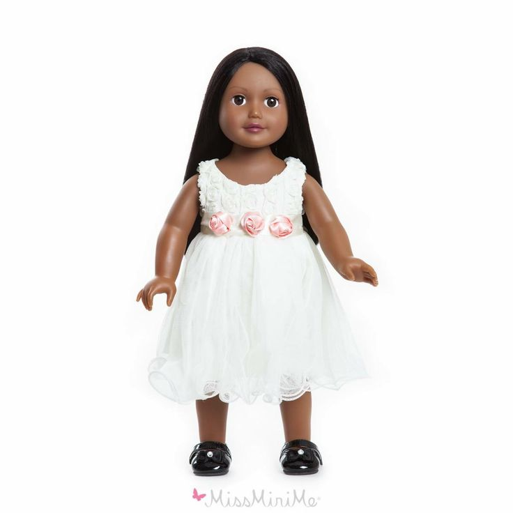 Miss Maria  She has black hair, dark skin and brown eyes. One of our twelve dolls. #missminime#missminimedoll#missminimedolls#missmaria#blackhaired#browneyed#beautiful#qualitydoll#girl#musthave#doll