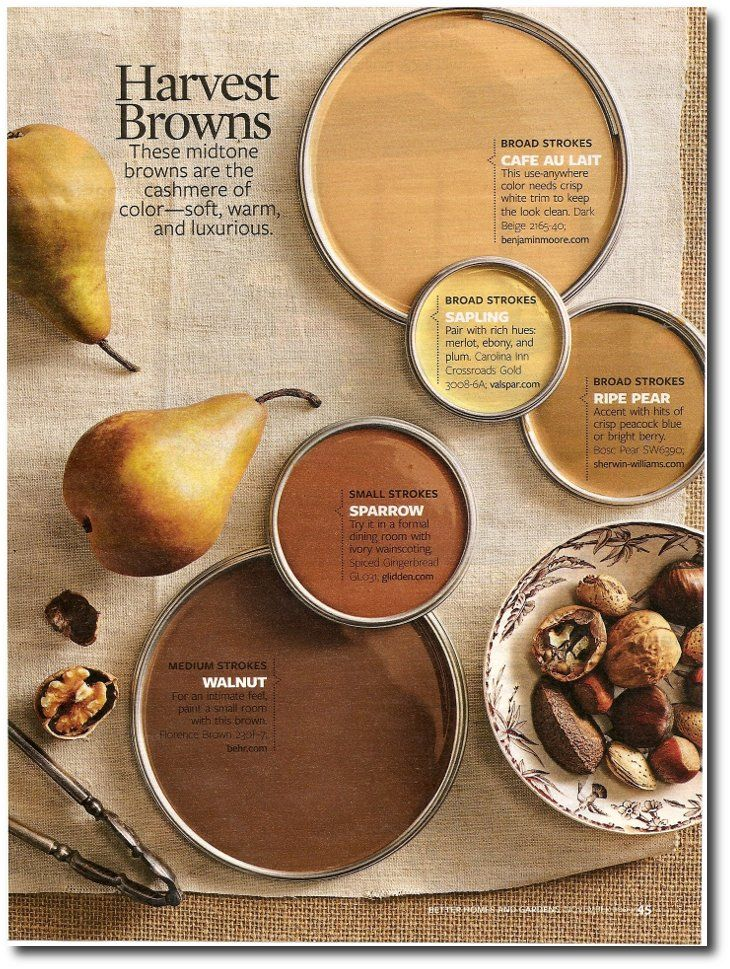 harvest browns | fall-inspired paint colors