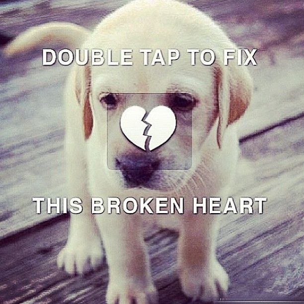 heart picture that says double tap | Double tap the broken heart to fix it. | Flickr - Photo Sharing!