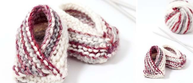 Tutorial for knitted booties