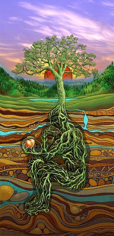 Psychedelic Peace:  DesertRose///Rootman by EMEK - WOW! #visionaryart #trippy