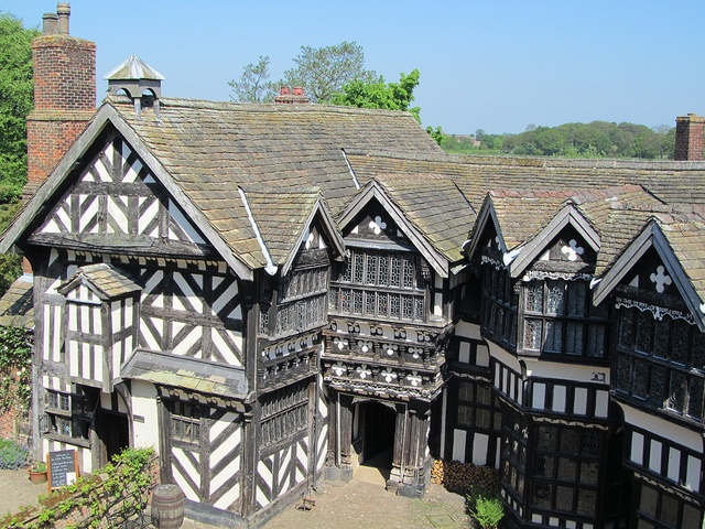 Cheshire, England...View from Long Gallery down in to Courtyard at Little Moreton Hall by JulesFoto, via Flickr...  From...  http://www.flickr.com/photos/julesfoto/7322919468/in/photostream/#