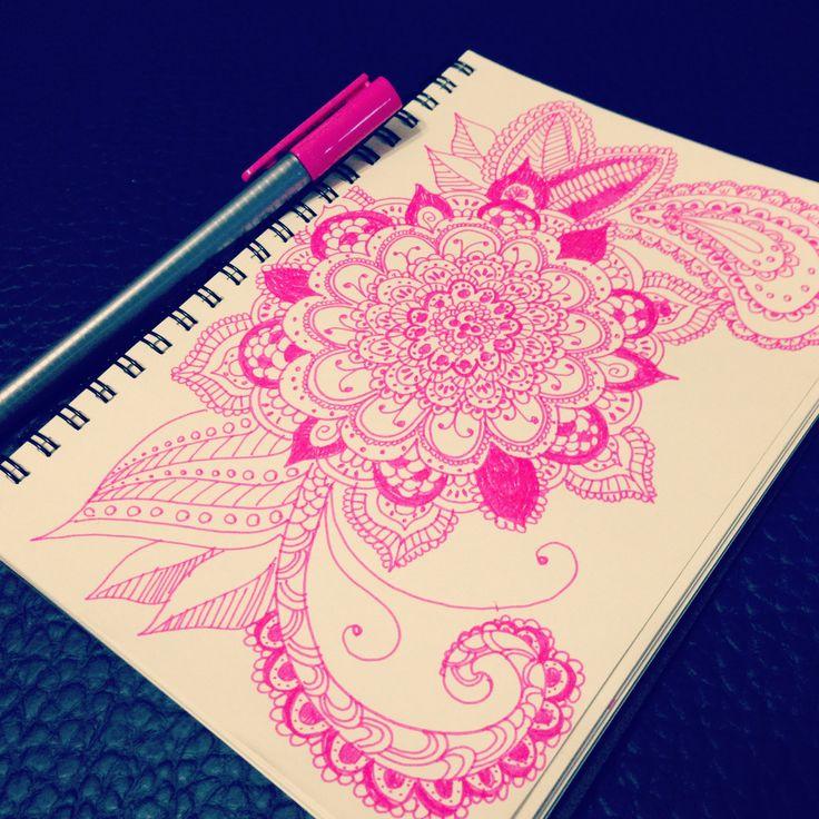 My private moment #doodle #mandala #zentangle