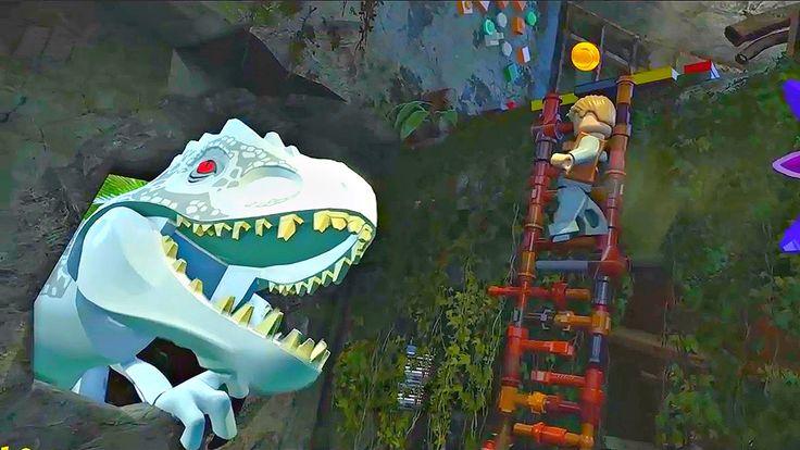 Lego Jurassic World.Динозавр Индоминус.Игры Мультики про Динозавров.Парк...