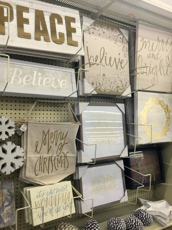 I'm dreaming of a gold and white Christmas! On a recent shopping trip to Hobby Lobby I created my modern glam holiday decor wish list!  #hobbylobbyfinds #CreativeChristmas #ad