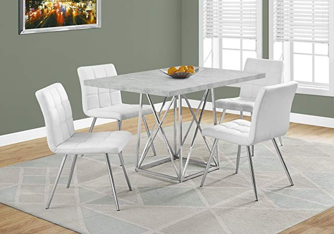 Monarch Specialties I 1043 Dining Table 36 X 48 Grey Cement