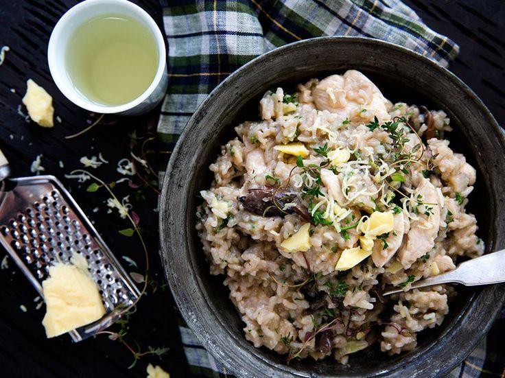 Chicken and Mushroom Risotto Recipe - Viva
