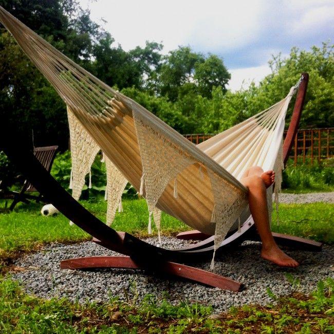 Great hammock stand. http://www.landromantikk.no/interior/hage-terrasse/hengekoyestativ-xl.html