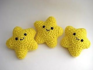 Cute amigurumi stars :D The website's in another language, but there's a diagram so check it out!