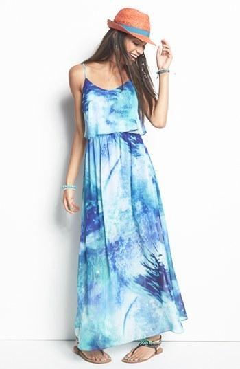 Summer Wishlist: Tie Dye Maxi Dress maxi dress #emma875 #style for women…