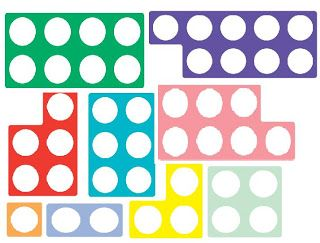 numicon pictures for parents to cut out to get children used to them before they come to school.