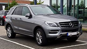 Mercedes-Benz ML 350 BlueTEC 4MATIC (W 166) – Frontansicht, 8. September 2013, Bösensell.jpg