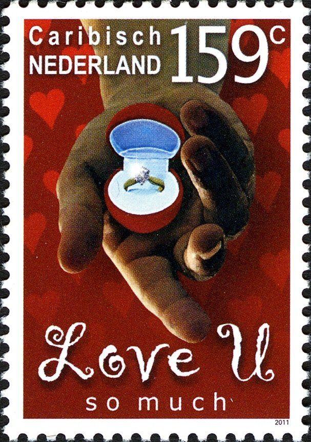 Stamp: Love U so much (Caribbean Netherlands) (Wishing Stamps) Mi:BQ 10,Sn:BQ 10,WAD:BQ009.11