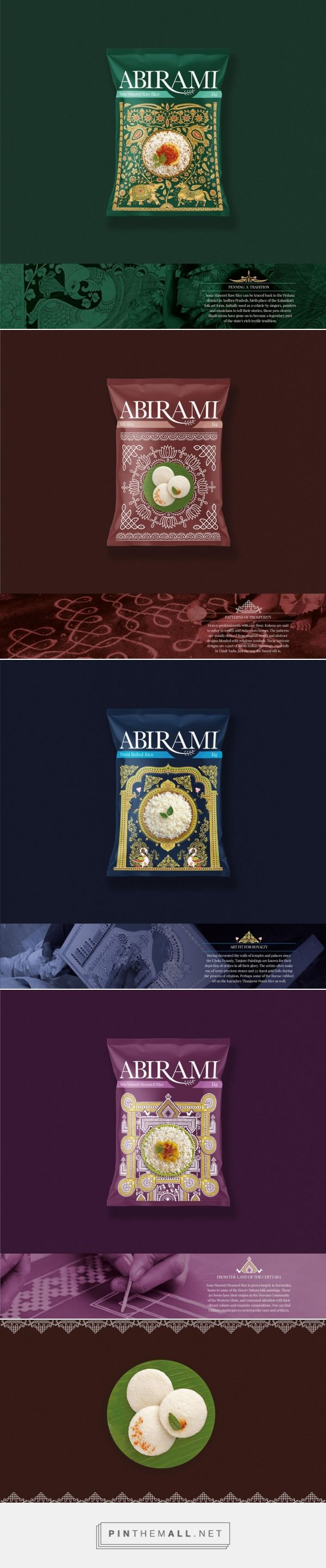 Abirami rice packaging design by Rubecon Communications - http://www.packagingoftheworld.com/2017/03/abirami.html