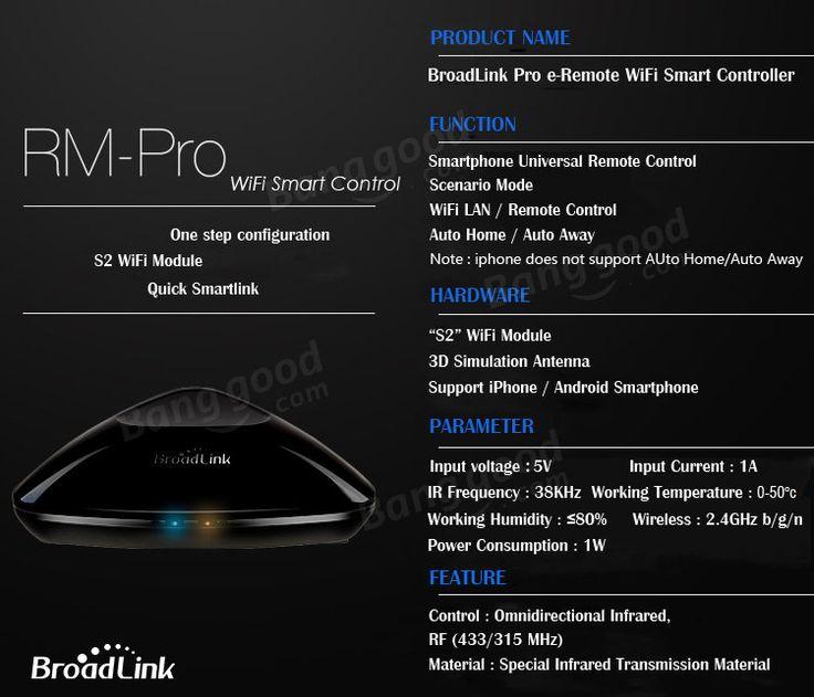 Broadlink RM Pro UK, US Stecker Smart Home Automation Phone Wireless Remote Control