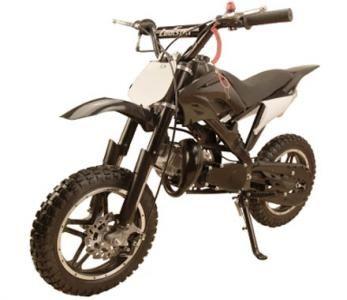 "DIR043 49cc Dirt Bike Semi-Automatic, Front/Rear Disc Brakes, BIG Body, Seat Height 22"", 12"" BIG Wheels $369.00"