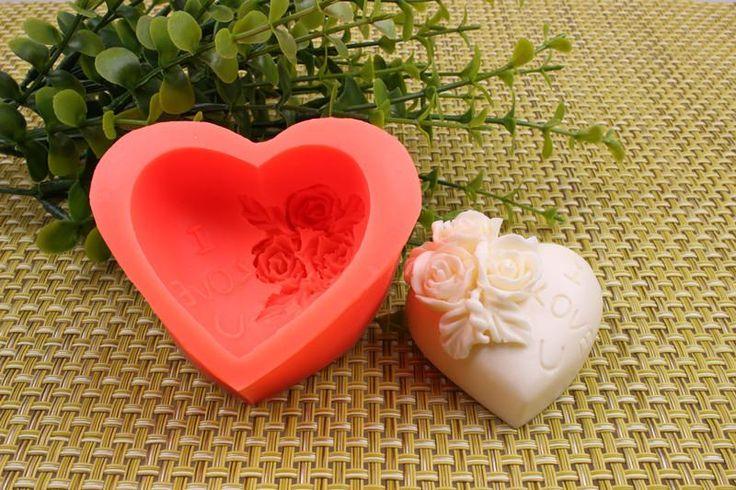 силиконовые формы торт шоколада, сахара торт луны пресс-форма форме сердца розовая роза формы