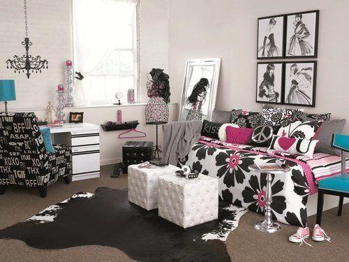 Modern Chic Designer Dorm Room