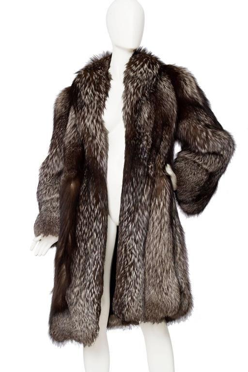 1980s SIlver Fox Fur Coat  5