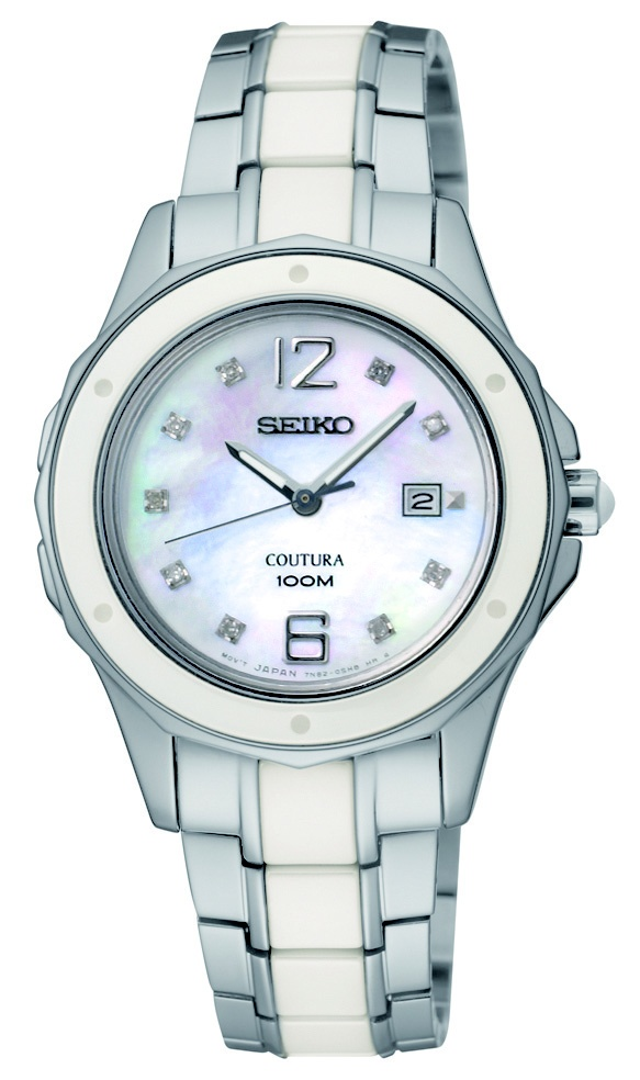Seiko Coutura Watch, with ceramic bezel and Mother-of-Pearl dial, SNDE85