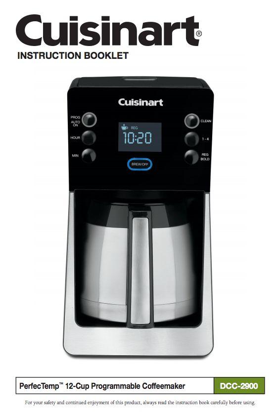 cuisinart thermal coffee maker manual